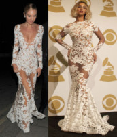 Candice Swanepoel, Beyonce Knowles - Londra - 13-01-2015 - Candice Swanepoel e Beyoncé Knowles: chi lo indossa meglio?