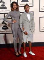 Helen Lasichanh, Pharrell Williams - Los Angeles - 09-02-2015 - Grammy Awards 2015: Madonna alza la gonna