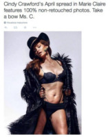 Cindy Crawford - 14-02-2015 - Chi sono le star pro e contro Photoshop