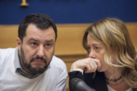 Giorgia Meloni, Matteo Salvini - Roma - 18-02-2015 - Andrea Giambruno sarà il primo