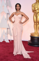 Zoe Saldana - Hollywood - 22-02-2015 - Oscar 2015: le più eleganti sul red carpet