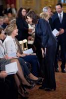 Laura Boldrini, Beatrice Lorenzin - Roma - 07-03-2015 - Beatrice Lorenzin è mamma, benvenuti Francesco e Lavinia