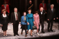 Judith Ivey, Dakin Matthews, Elizabeth Teeter, Sadie Sink, Richard McCabe, Dylan Baker, Helen Mirren - New York - 09-03-2015 - Helen Mirren è ancora la regina Elisabetta II in The Audience