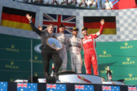 Dr. Thomas WEBER, Nico Rosberg, Sebastian Vettel, Lewis Hamilton - Melbourne - 15-03-2015 - F1: Hamilton e Rosberg trionfano in Australia, Vettel terzo