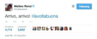 Twitter Matteo Renzi - 21-03-2015 - Buon compleanno Twitter! Compie nove primavere!