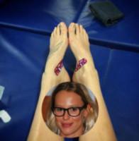 Federica Pellegrini - Milano - 22-03-2015 - A piedi nudi da te: le star mostrano i loro piedini