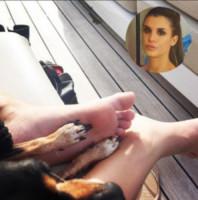Elisabetta Canalis - Milano - 22-03-2015 - A piedi nudi da te: le star mostrano i loro piedini