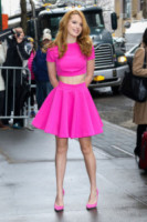 Bella Thorne - New York - 26-03-2015 - Top Crop & company: pancini al vento sul red carpet