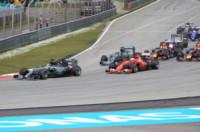 Nico Rosberg, Sebastian Vettel, Lewis Hamilton - Sepang - 29-03-2015 - Gp Qatar: Sebastian Vettel riporta alla vittoria la Ferrari
