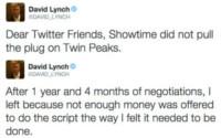 David Lynch non rifarà Twin Peaks: ecco perché