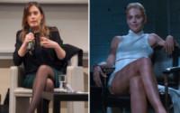 Maria Elena Boschi, Sharon Stone - Hollywood - Sharon Stone replica Basic Instinct su Instagram, web in delirio
