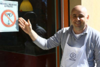 Mauro Mastrosanti - Senigallia - 03-04-2015 - VIETATO L'INGRESSO AI POLITICI: la provocazione di Mastrosanti