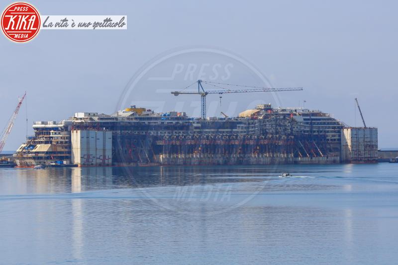 Costa Concordia - Genova - 10-04-2015 - Costa Concordia, cinque anni fa la tragedia all'Isola del Giglio
