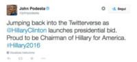 John Podesta - 13-04-2015 - Hillary Clinton: