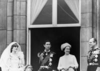 Principe Carlo d'Inghilterra, Regina Elisabetta II, Principe Filippo Duca di Edimburgo, Lady Diana - Londra - 29-07-1981 -