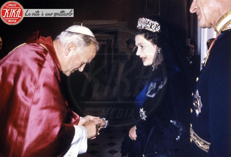 Papa Giovanni Paolo II, Regina Elisabetta II - Città del Vaticano - 01-01-1980 - Dio salvi la regina: Elisabetta II compie 89 anni