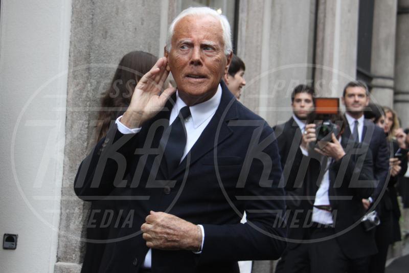 Giorgio Armani - Milano - 29-04-2015 - Raoul Bova e'... di moda: sara' Giorgio Armani in una fiction