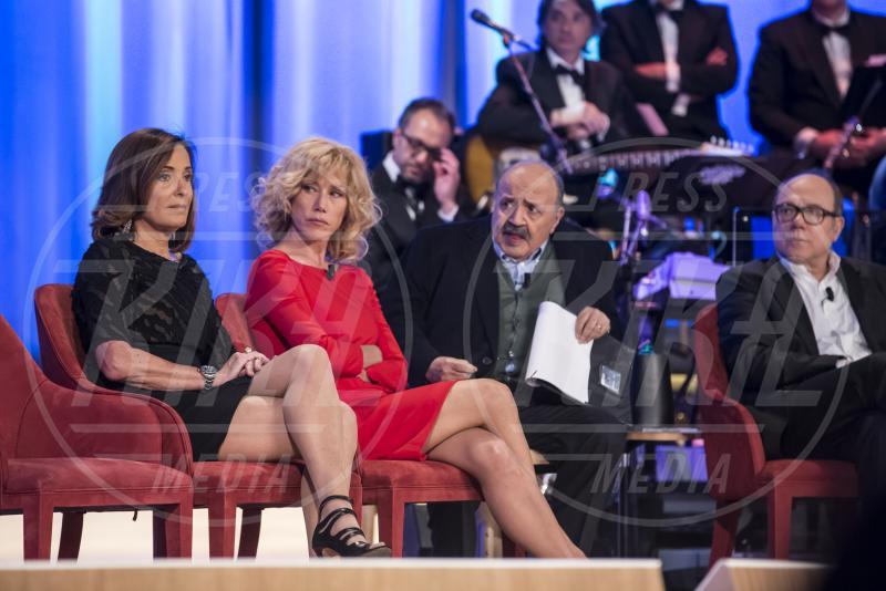 Maurizio Costanzo, Barbara Palombelli, Carlo Verdone, Nancy Brilli - Maurizio Costanzo Show - Roma - 01-05-2015 - Maurizio Costanzo Show: l'ultima puntata