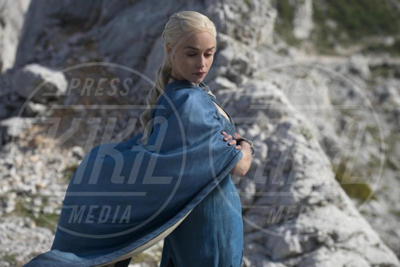 Set Trono di Spade, Emilia Clarke - 04-05-2015 - Game of Thrones: Emilia Clarke introduce la sesta stagione