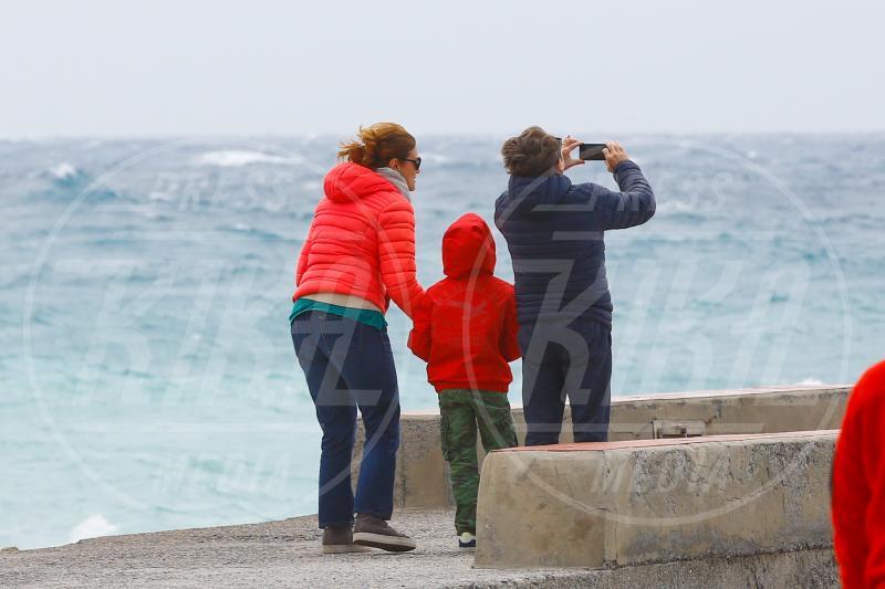 Emanuele Poretti, Daniela Cristofori, Giacomo Poretti - Varigotti - 01-05-2015 - Giacomo Poretti e i selfie con la sua famiglia non Ogm