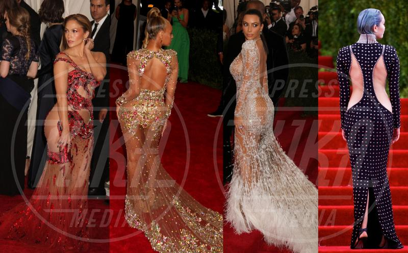 Kim Kardashian, Miley Cyrus, Beyonce Knowles, Jennifer Lopez - 05-05-2015 - Met Gala 2015: Vade retro abito! Le star scelgono il nude look