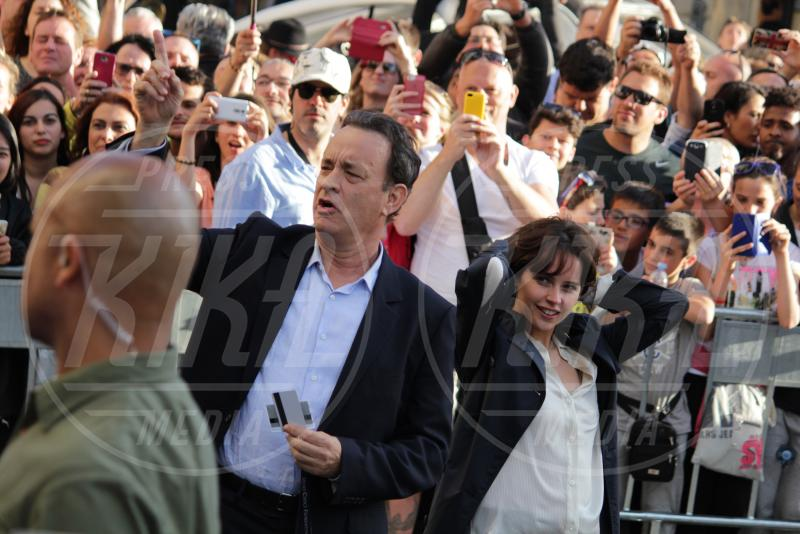 Felicity Jones, Tom Hanks - Firenze - 08-05-2015 - Felicity Jones scende all'Inferno con Tom Hanks