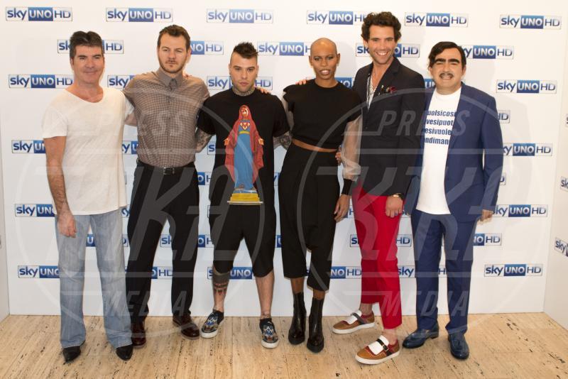 Elio, Fedez, Alessandro Cattelan, Mika, Skin, Simon Cowell - Milano - 15-05-2015 - X Factor: Mika lascia il ruolo di giudice