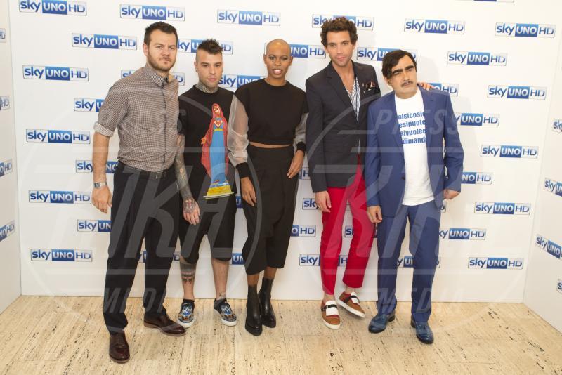 Elio, Fedez, Alessandro Cattelan, Mika, Skin - Milano - 15-05-2015 - X Factor: Mika lascia il ruolo di giudice