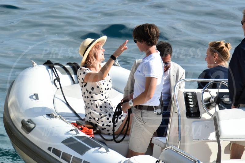 Andre Balazs, Uma Thurman - Cannes - 16-05-2015 - Cannes 2015: Uma Thurman arriva in barca insieme ad André Balazs