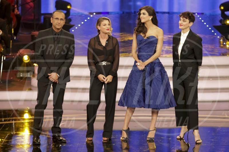 Rocio Munoz Morales, Arisa, Carlo Conti, Emma Marrone - Roma - 26-05-2015 - Sanremo senza vallette? Ricordiamo le ex protagoniste