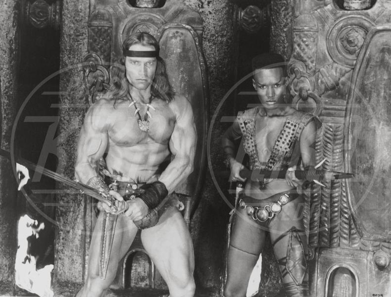 Grace Jones, Arnold Schwarzenegger - 01-01-1984 - Auguri Arnold Schwarzenegger! L'attore compie 70 anni