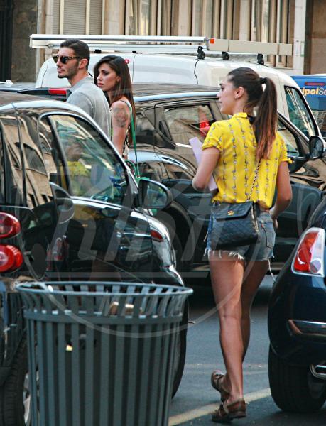 Stefano De Martino, Cecilia Rodriguez, Belen Rodriguez - Milano - 03-06-2015 - È arrivato il caldo: gambe al fresco con gli shorts!