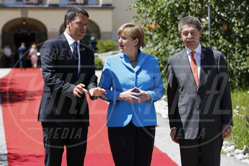 Joachim Sauer, Matteo Renzi, Angela Merkel - Krün - 07-06-2015 - Al via il G7: padrona di casa Angela Merkel