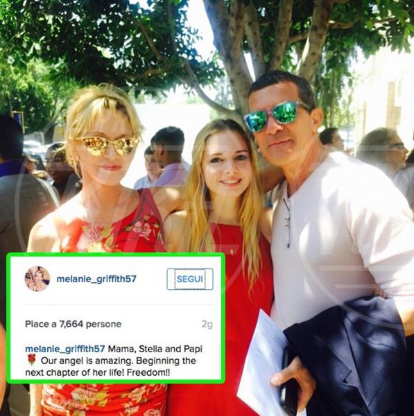 Stella Banderas, Antonio Banderas, Melanie Griffith - 10-06-2015 - Ti lascio, ma non ti odio: la famiglia allargata fa tendenza