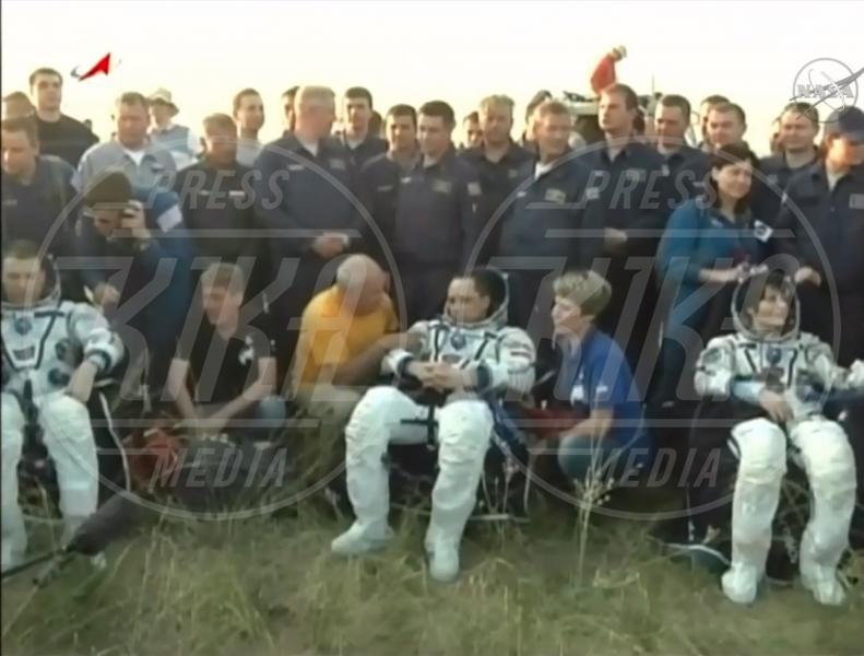 Anton Skhaplerov, Terry Virts, Samantha Cristoforetti - Kazakistan - Samantha Cristoforetti è tornata sulla Terra