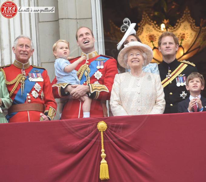 Principe George, Principe Carlo d'Inghilterra, Regina Elisabetta II, Principe William, Kate Middleton, Principe Harry - Londra - 13-06-2015 - Dio salvi la regina: Elisabetta II compie 63 anni di regno