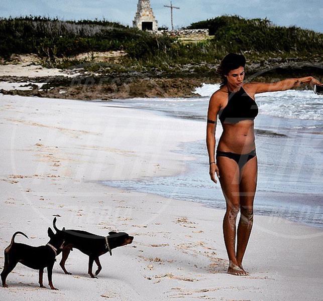 Elisabetta Canalis - 24-08-2015 - Le vacanze delle star sono anche vacanze da cani!