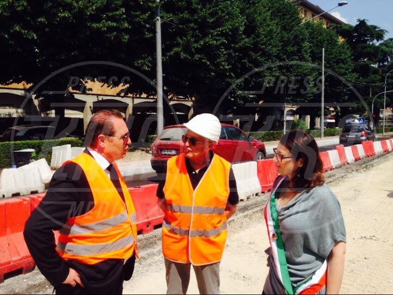 Fabio Monzali, Claudia D'Eramo, Franco Bonini - San Lazzaro di Savena - 09-06-2015 - 15 anni a osservare i lavori: capo cantiere ad honorem