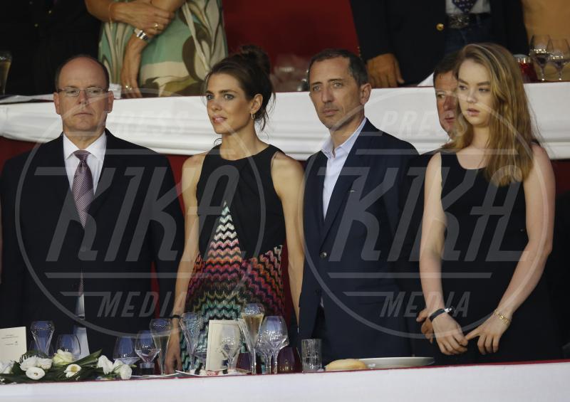 Principe Alberto di Monaco, Alexandra di Hannover, Gad Elmaleh, Charlotte Casiraghi - Monte Carlo - 28-06-2015 - Alexandra di Monaco: sboccia l'amore al Parco dei Principi