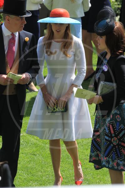 Principessa  Beatrice di York, Principe Andrea Duca di York, Principessa Eugenia di York - Ascot - 18-06-2015 - Beatrice di York, lo scandalo del padre Andrea investe le nozze
