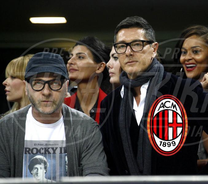Domenico Gabbana, Stefano Dolce - Milano - 28-03-2012 - Quando il tifo lo fanno le celebrity
