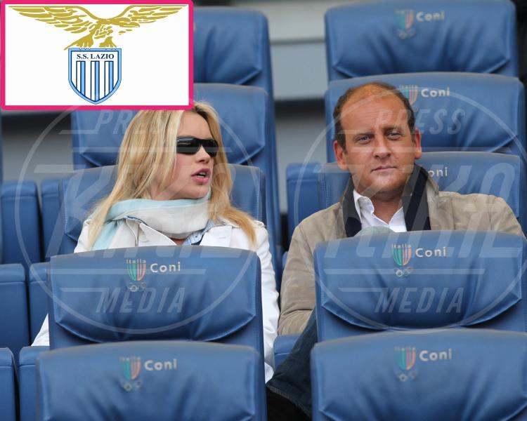 Andrea Ruggeri, Anna Falchi - Roma - 04-03-2012 - Quando il tifo lo fanno le celebrity