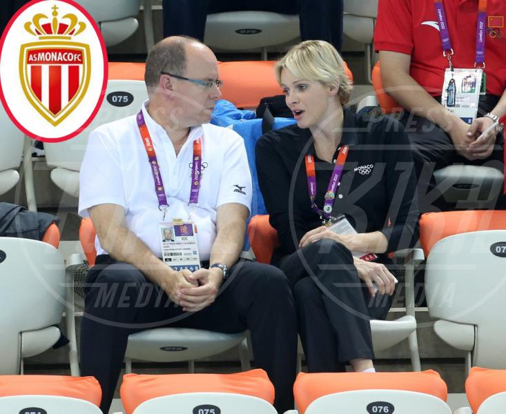 Principe Alberto di Monaco, Principessa Charlene Wittstock - Londra - 01-08-2012 - Quando il tifo lo fanno le celebrity
