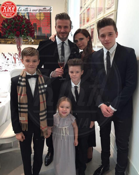 Harper Seven Beckham, Cruz Beckham, Romeo Beckham, Brooklyn Beckham, David Beckham, Victoria Beckham - Los Angeles - 04-07-2015 - Genitori da record: James Van del Beek al sesto figlio!