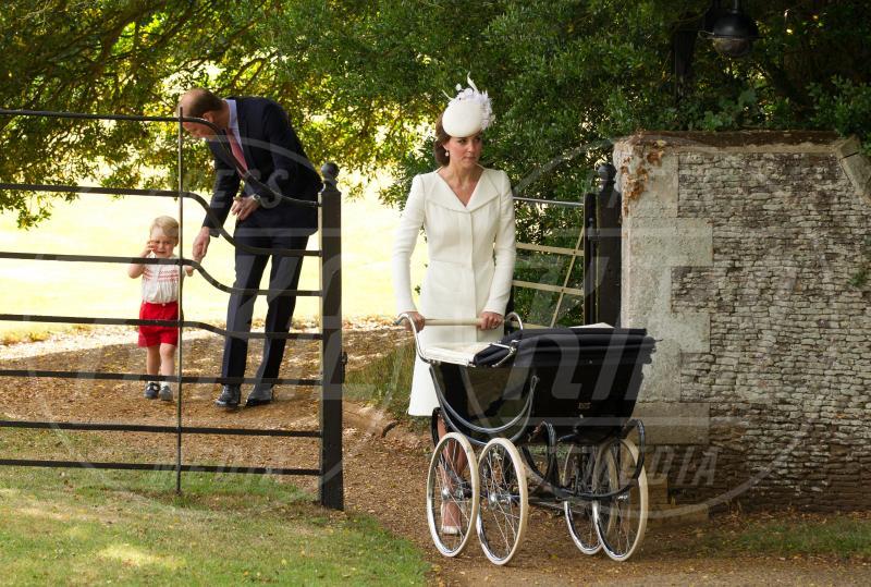 Principessa Charlotte Elizabeth Diana, Principe George, Principe William, Kate Middleton - Battesimo Charlotte - Sandringham - 05-07-2015 - Principino George: le sette foto che lo hanno resto una star