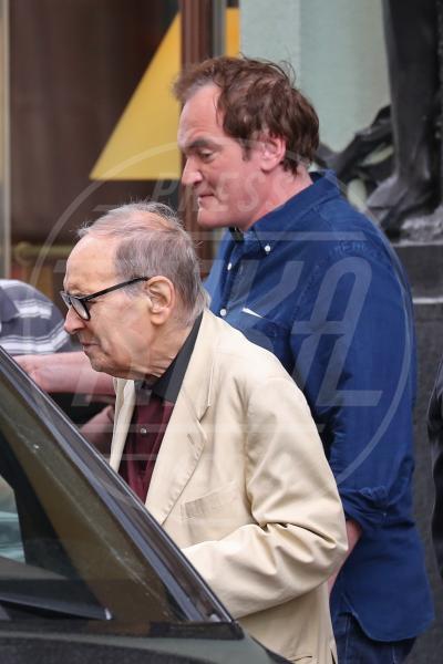 Ennio Morricone, Quentin Tarantino - Prague - 18-07-2015 - Ennio Morricone, per la sesta volta candidato agli Oscar