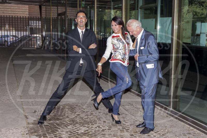 Alessandro Antinelli, Giusy Versace, Giovanni Trapattoni - Roma - 28-07-2015 - Walter Zenga scalza il Trap come commentatore dell'Italia