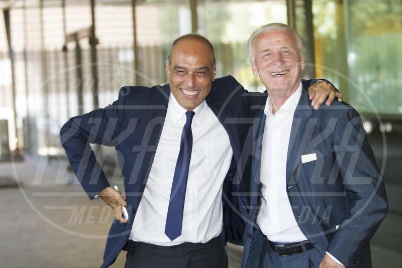 Carlo Paris, Giovanni Trapattoni - Roma - 28-07-2015 - Walter Zenga scalza il Trap come commentatore dell'Italia
