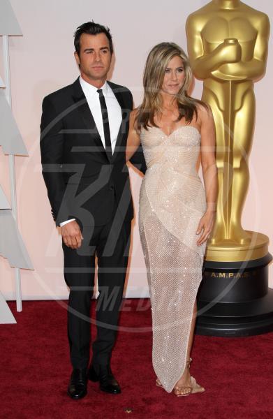 Justin Theroux, Jennifer Aniston - Los Angeles - 22-02-2015 - Jennifer Aniston è incinta di due gemelle