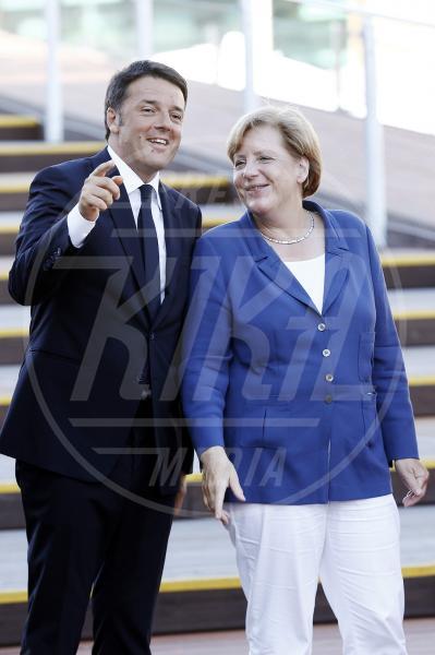 Matteo Renzi, Angela Merkel - Milano - 17-08-2015 - Angela Merkel è la persona dell'anno per Time